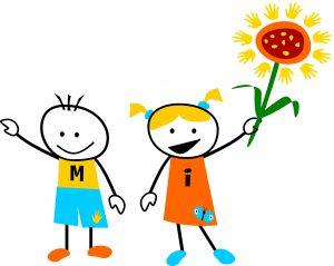 kinderfiguren-met-bloem